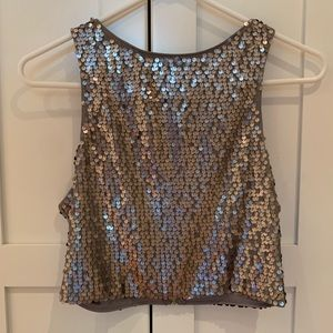 Express Sequined Crop Top